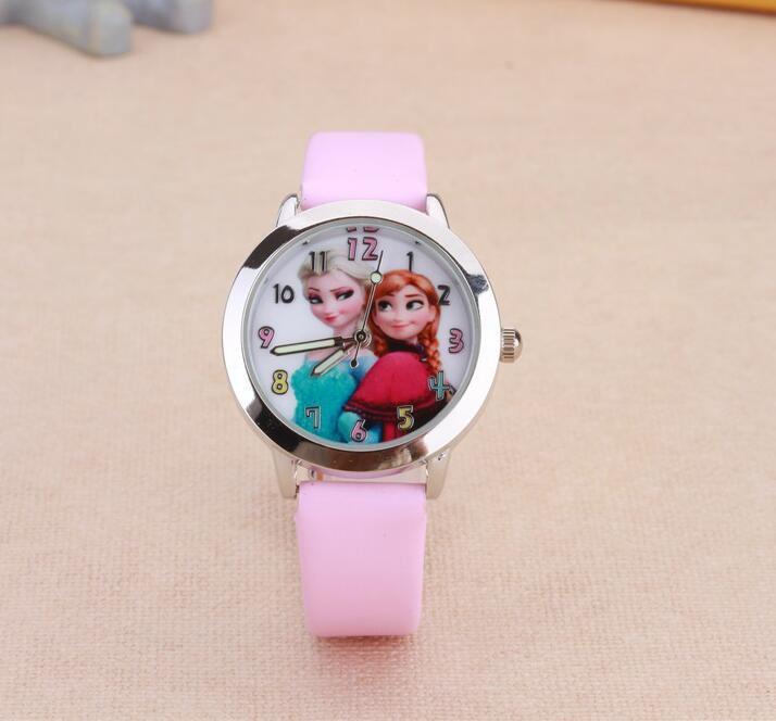 New Fashion Anna ELSA Watches Children Kids Boys Gift Watch Casual Quartz Wristwatch Feminino Montres Relogio Relojes Clock