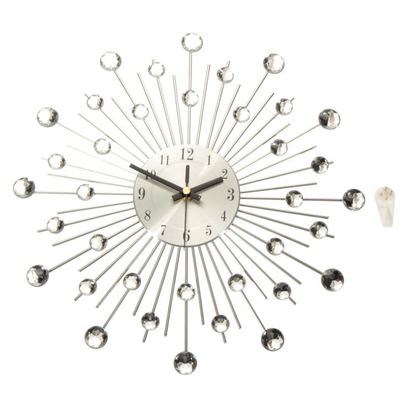 Charminer Metal Wall Clock Fashion Modern Decoration Clock