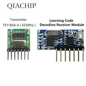 X20 433 mhz receptor e transmissor sem fio, controle remoto código de aprendizagem 1527 módulo de decodificação 4 ch saída com botão de aprendizagem