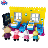 Genuine Peppa Pig Action Figure Sceney Toy Peppa Pigs Classroom with Rebecca Toys for Children Birthday Gift New Arrival