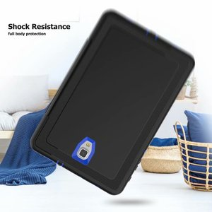 Image 5 - Full Protection Case For Samsung Galaxy Tab A 10.5 2018 SM T590 T595 T597 Safe Shockproof Heavy Duty TPU Hard Cover Kickstand