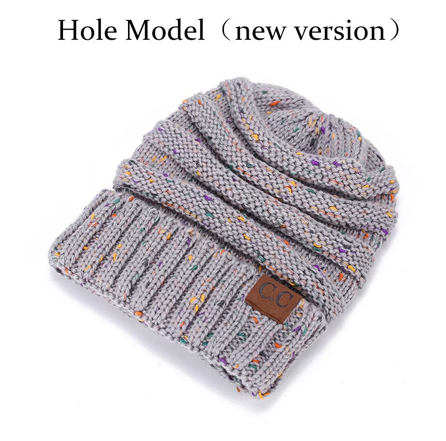 603ea92f831 LONSUNNOR 2017 New Trendy CC Warm Winter Hat For Women Ponytail ...