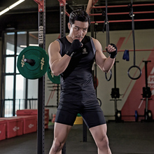 Hombres Gym entrenamiento Fitness ropa deportiva física entrenamiento  trajes Running jogging deportes chándal ropa ajuste seco 3027c2b63fd35