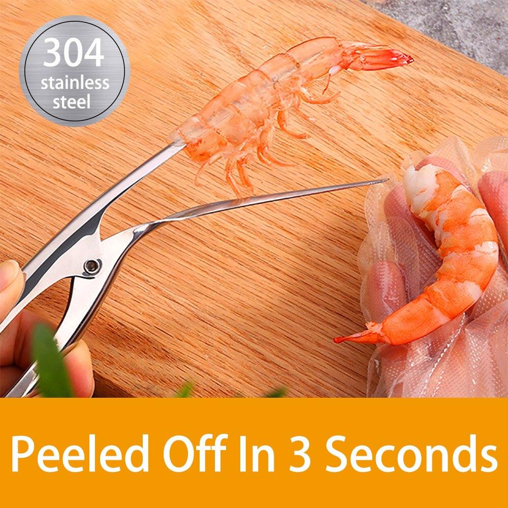 Shrimp-Clamp Peeling-Plier Stainless-Steel Kitchen-Easy Restaurant Smart Household Handy