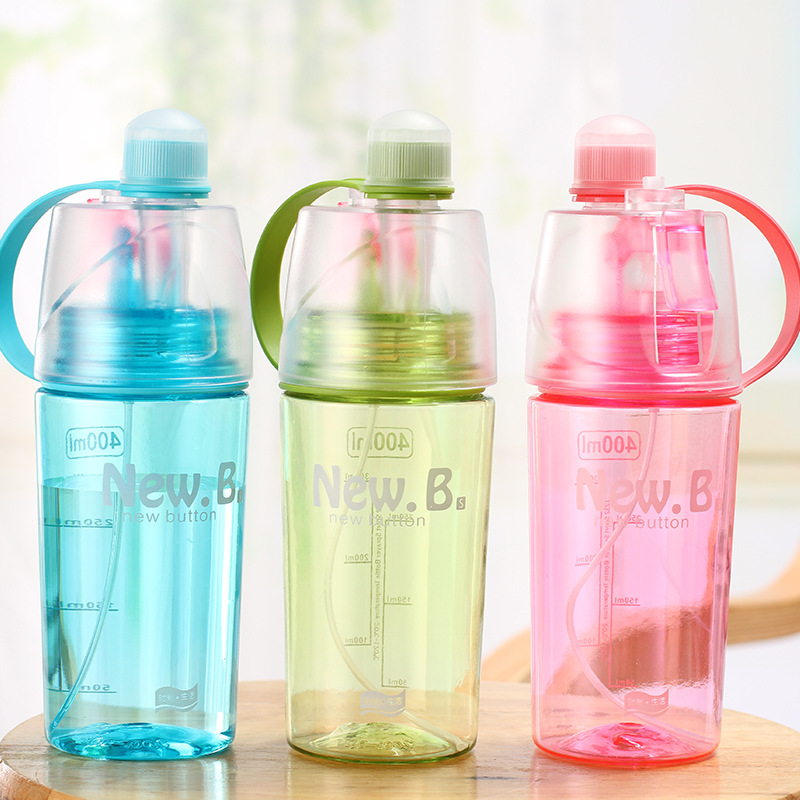1pcs/lot Creative spray water bottle outdoor sports water bottle handy to carry a summer tonic water cooler image