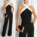 Summer Women Halter Jumpsuit Playsuit Rompers Sexy Summer Sleeveless Off Shoulder Casual Slim Bodysuit Long Overalls