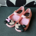 Мини-обувь Melissa  летние прозрачные сандалии для девочек с изображением Микки и Минни  цвет красный  черный  2019