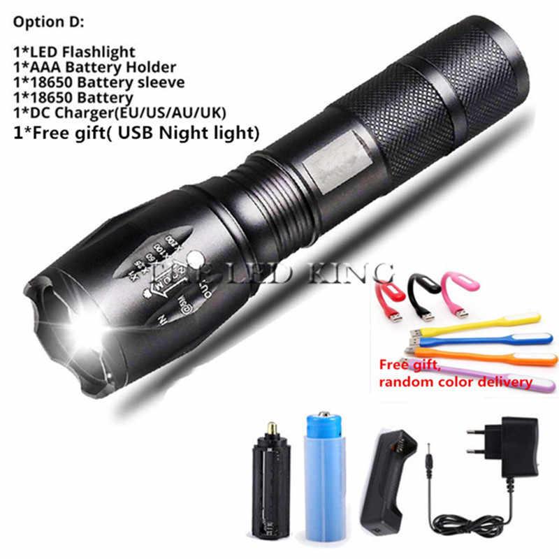 12000 люмен CREE XM-L T6 L2 светодиодный фонарик Перезаряжаемые Масштабируемые Linternas на 1*18650 или 3 * Лампа AAA ручной фонарь, z50