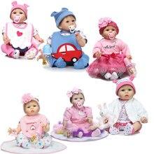 Corps mou Poupée Reborn 22 pouce Relistic Reborn Doll 55 cm Silicone Reborn Baby Dolls Lifelike Nouveau-Né Bebe Reborn Boneca Brinquedos