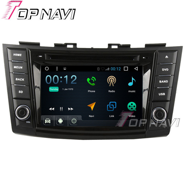 "TOPNAVI 7"" 1024*600 Quad Core 16G Android 6.0 Car DVD Multimedia Player for Suzuki Swift Autoradio GPS Navigation Audio Stereo"