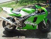 Hot Sales,Body Kit For Kawasaki Ninja ZX7R 636 1996 1997 1998 1999 2000 2001 2002 2003 ZX 7R Green White ABS Motorcycle Fairing