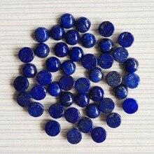 Moda 6MM 50 pçs/lote lapis lazuli Natural Pedra Bead Charme de alta qualidade DIY cabochão rodada beads para fazer jóias acessórios