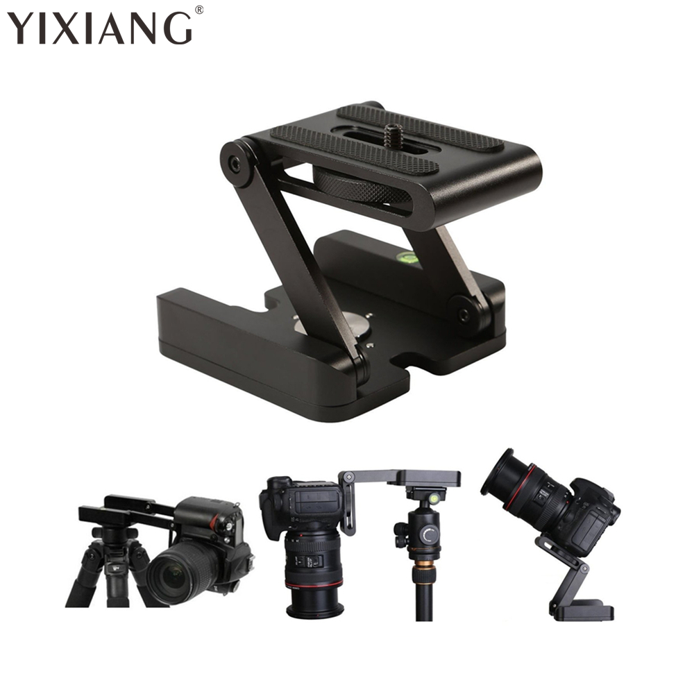 цена на YIXIANG Tripod Head Solution Photography Studio Camera Tripod Z Pan & Tilt Flex Aluminum Alloy Tilt Head Multi-angle Folding