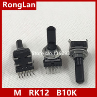 BELLA Japan M RK12 6 Pin Dual Potentiometer Compass B10K Axis Long Package Thread 23MM
