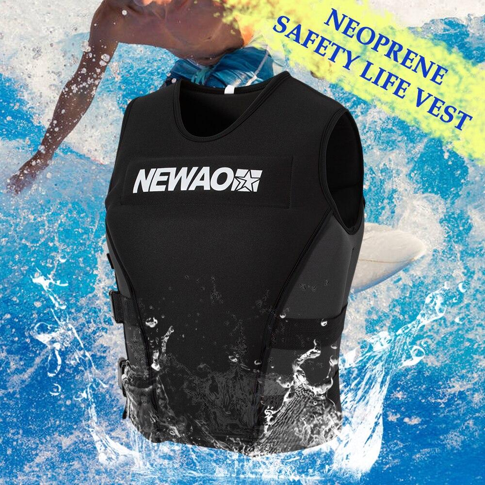 Professional Adults Life Jacket Neoprene Safety Life Vest Rescue Wakeboard Swimming Piscina 구명조끼 Flamenco Flotador Infantil