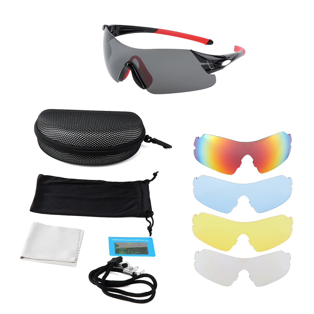 MENS Road Bike Glasses With Interchangeable UV Lenses SUNGLASSES FOR CYCLING