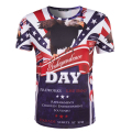 New Arrival Men Printing 3D US Independence Day T-shirt Short Sleeve Round Neck Tops Male Casual USA Flag T Shirt