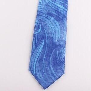 Image 3 - Design mode druck kreative krawatte männer und frauen persönlichkeit bankett party casual blau welle geschenk box