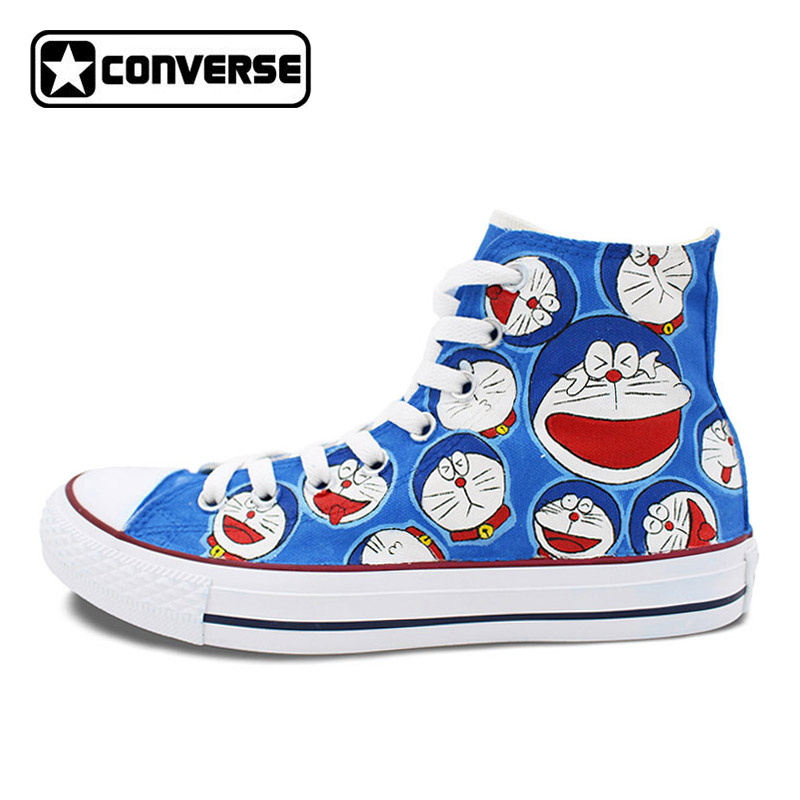 Anime Shoes Designer Athletic Sneakers Men Women Brand Converse All Star Design Doraemon Hand Painted Skateboarding Shoes