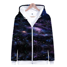 LUCKYFRIDAYF Suicide Squad Starry Sky 3D Zipper Hoodies Women Spring Skull Print Long Sleeve Funny Hoodie Popular Soft Clothes