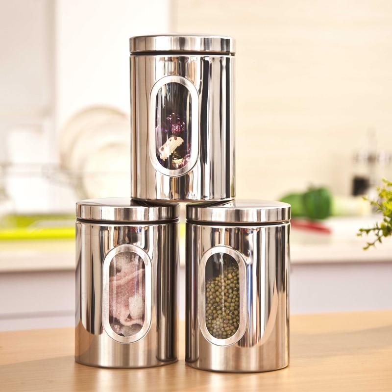 Superb Stainless Steel Kitchen Storage Containers Kitchen Accessories Kitchen Food  Storage Tea Storage De Cocina Kitchen Accessories In Storage Bottles U0026 Jars  From ...