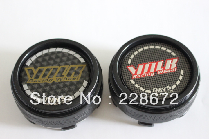 66MM RAYS Emblem Wheel Center Cap Hub VOLK Sticker Covers(Black Carbon Grain) - SIXTH POWER store
