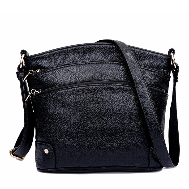 Genuine Leather Ladies Handbag Women's Messenger Bags Zipper Crossbody Travel Bags For Women Single Shoulder Bag Bolsas Feminina feral cat ladies hand bags pvc crossbody bags for women single trapeze shoulder bag dames tassen handbag bolso mujer handtassen