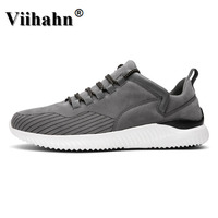 2017 Mens Sports Shoes Spring Autumn Running Shoes Quality Brands Black Gray Athletic Sneakers Men Leather