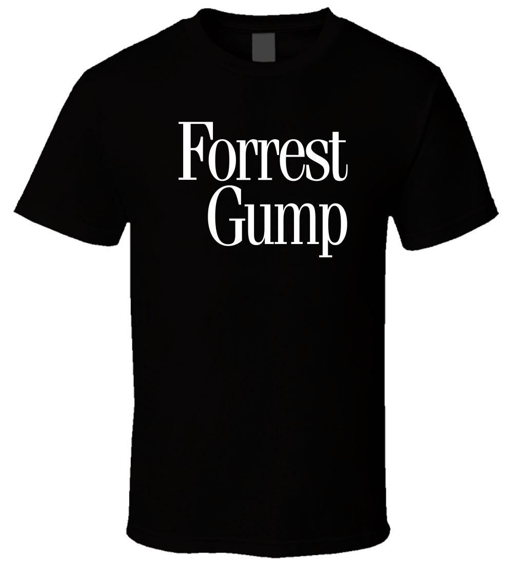 Forrest Gump Logo 1 New Hot Sale Black Men T Shirt Cotton Size S - 3XL T-Shirt Men Funny Tee Shirts Short Sleeve