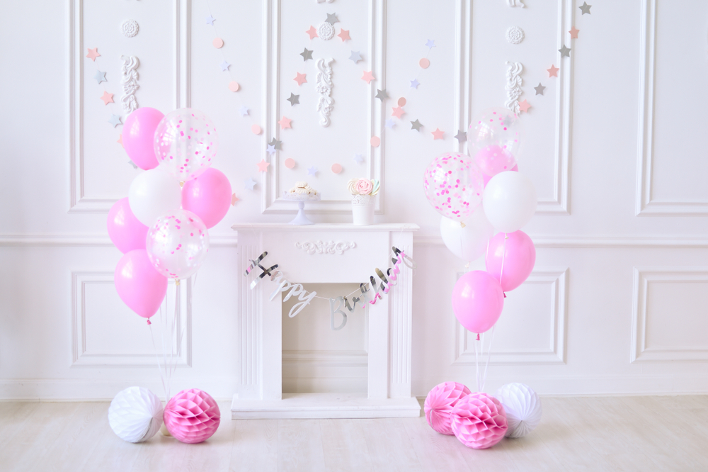 Nºlife Magic Box Photoshoot Background Balloon Pink Happy Birthday For Photographer Back Drop A572