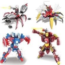 Marvel Avengers Infinity War DC Super hero Spiderman Batman building blocks Action Movie Figures toys Compatile with legoings
