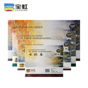 100% Cotton Watercolor Sketchbook Large Size 300g/m2 Water Color Drawing Paper Book Student Transfer Paper 410*310CM sketchbook canson arches 300g 380 480mm