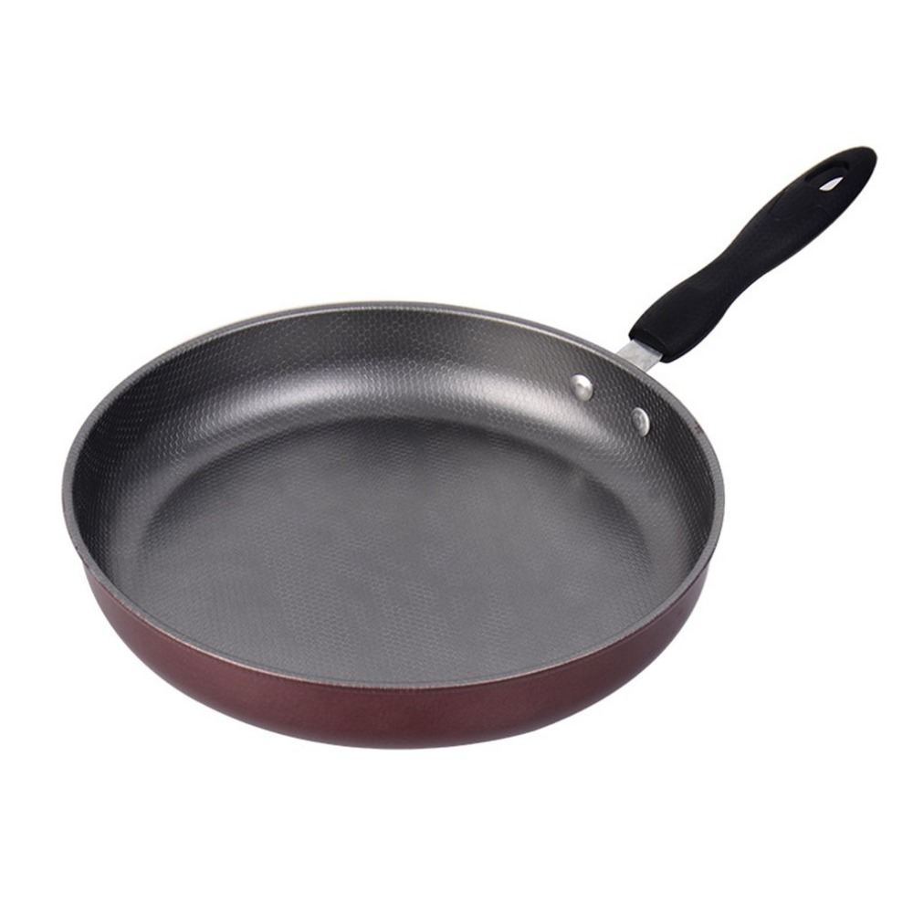 26cm Non-stick Frying Pan Steel Material Teflon Coating Inside Inductiion&Gas Cookware Pan Home Kitchen Cooking Pans Helper NEW