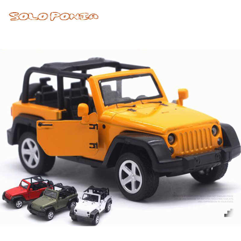 Jeep Wrangler 1:32 Alloy Car Metal Die-cast Classical Street Jeep Model Toy Collection For Children Gifts Alloy Car Models