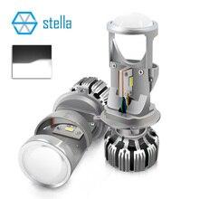 Stella H4 fascio anabbagliante/alta fascio fari a led lente del proiettore per auto/moto 12 V 72 W 8000LM 5500 K HA CONDOTTO LA luce lampadine/lampade per auto
