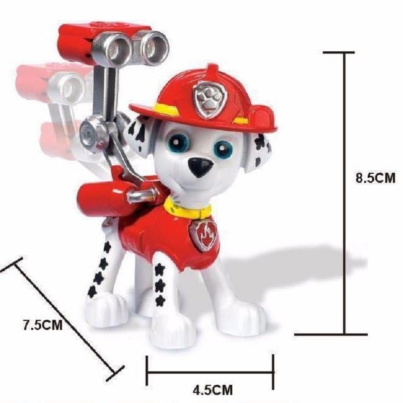 1 Pcs  New Canine Patrol Dog Toys Russian Anime Doll Action Figures Car Patrol Puppy Toy Patrulla Canina Juguetes Gift for Child new 3 5inch patrol dog anime toys action figure moviejuguetes brinquedos cute puppy patrol toys for child gift girls children