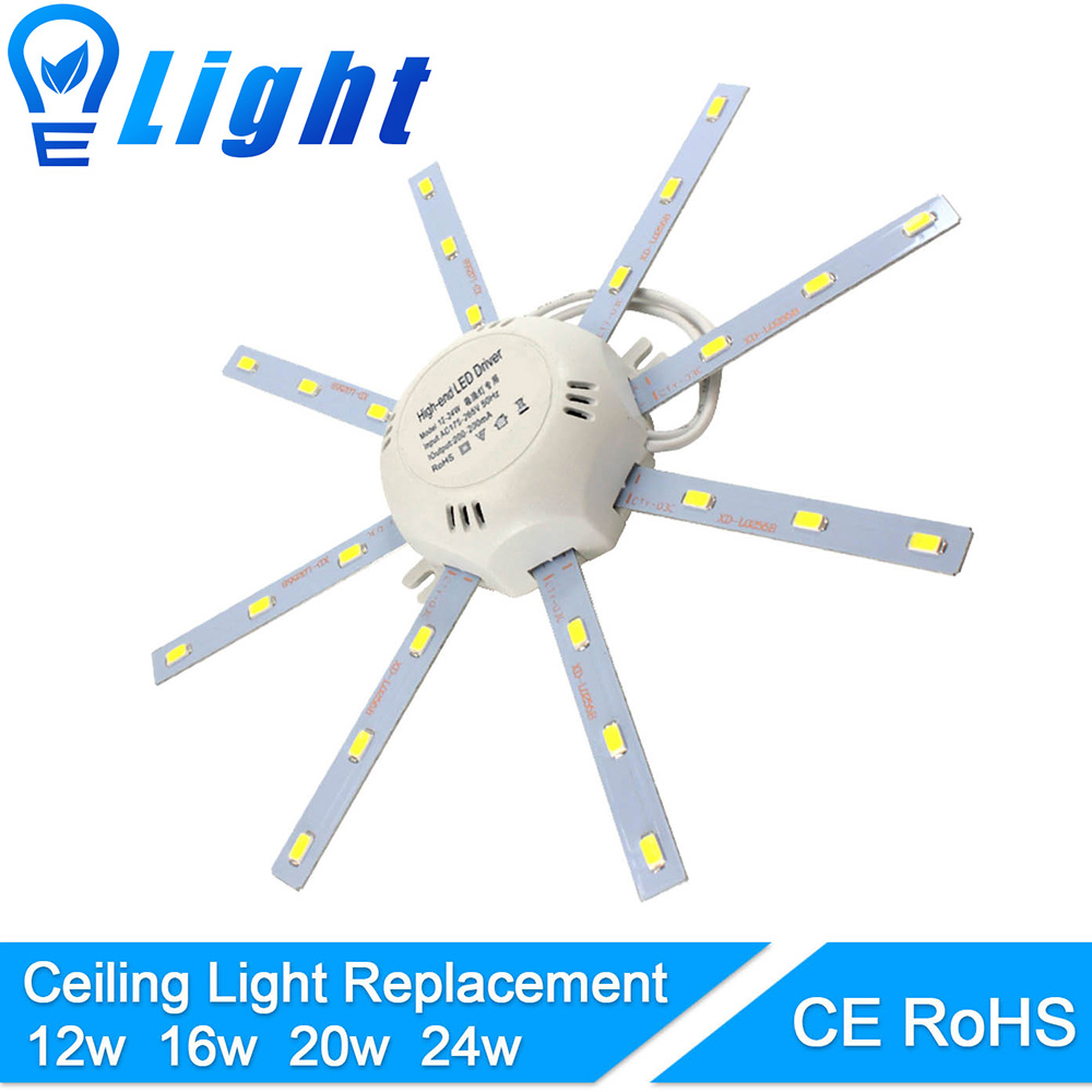 Modified LED light board High Bright LED Celling Lamp Accessory5730SMD 12W/16W/20W/24W octopus Round kitchen lamp bedroom Tube ...