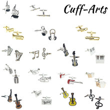 Cufflinks For Men Musical Instruments Design Quality Brass Shirt Cufflinks Fashion Cuff Links By Cuffarts PT0024 pair of chic solid color musical note shape alloy cufflinks for men