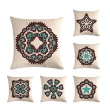 Funda de cojín decorativa de Oriente Medio, diseño Kilim geométrico Vintage islámico, funda de cojín de decoración para hogar ZY620