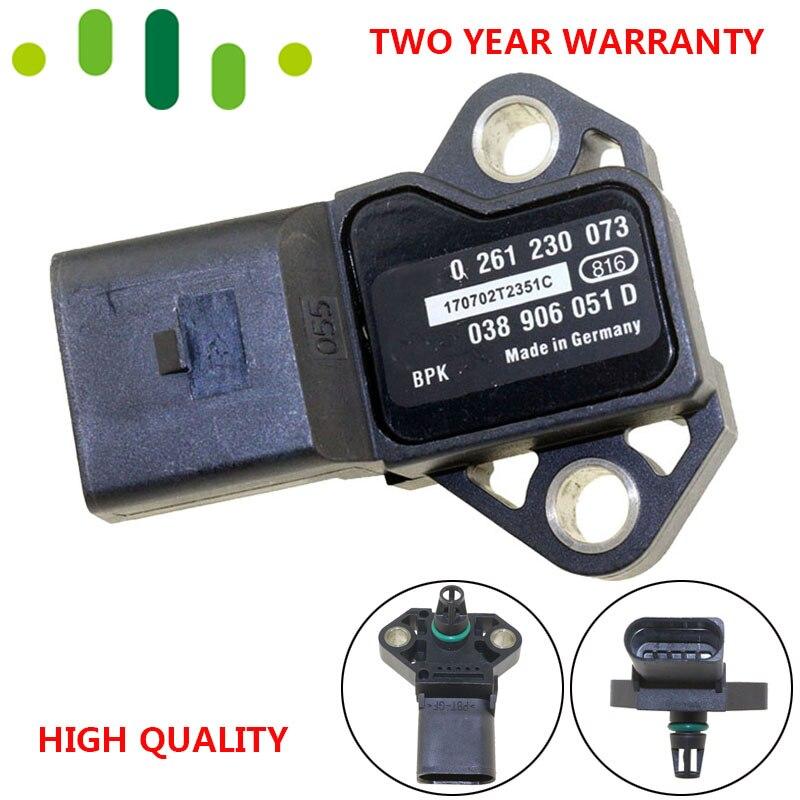 Manifold Absolute Turbocharger Boost Pressure MAP Sensor For VW Volkswagen Beetle Bora CC Eos Passat 1.8 2.0 TSI 2.0L 038906051D