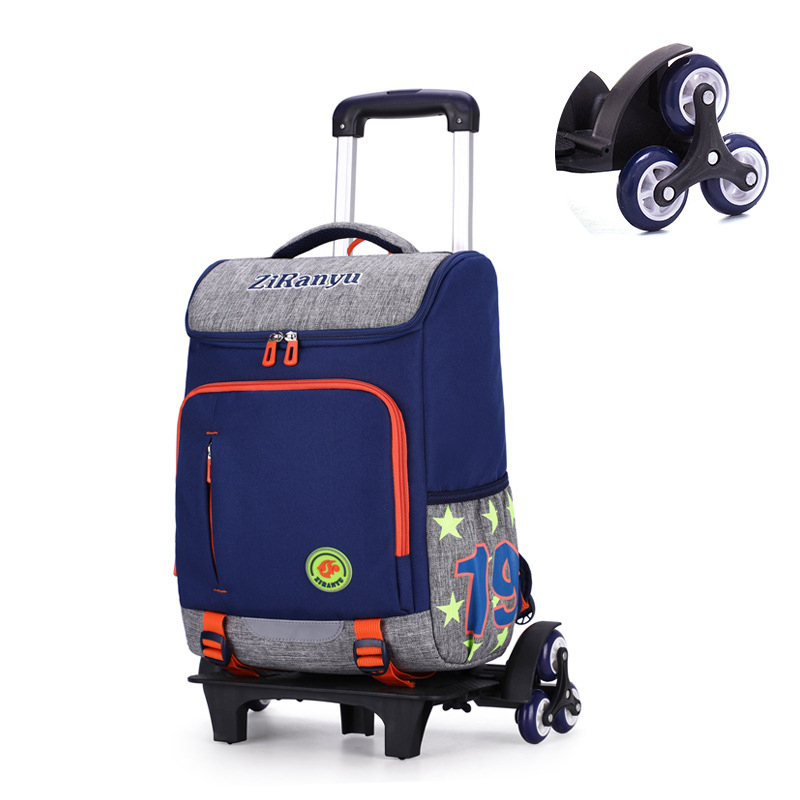 ZIRANYU enfants garçons filles Trolley cartable bagages livre sacs à dos derniers enfants amovibles sacs d'école 2/6 roues escaliers