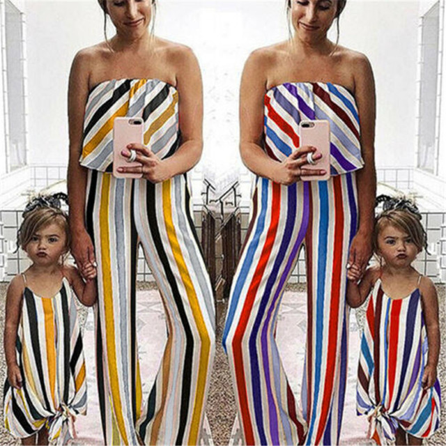 Ubrania rodzinne ubrania dla matki i córki kombinezon dla rodziców i dzieci kombinezon jednakowe stroje rodzinne ubrania dla córki matki