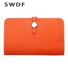 SWDF frauen Brieftasche Mit Hoher Qualität Kartenhalter und Mode Damen Brieftaschen und Geldbörsen Lange Designer dame Geldbörse verschluss Tasche