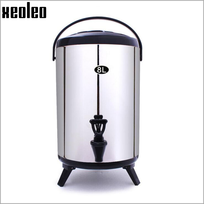 XEOLEO Bubble tea Buckets 8L Stainless steel Insulation barrel keep Temperature from 30 to 150 degree for about 4 hours 4 Color in Food Processors from Home Appliances