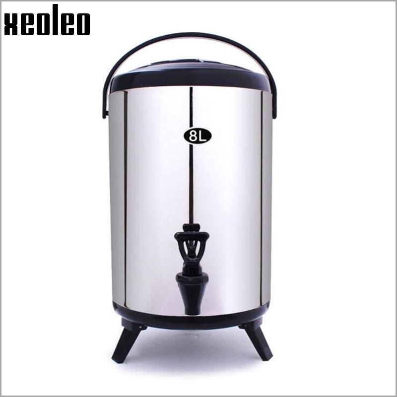 Xeoleo burbuja té cubos 8L aislamiento de acero inoxidable barril mantener temperatura de-30 a 150 grados durante unos 4 horas 4 Color