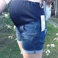 2016 Hot short Jeans Moda Shorts de Mezclilla de Maternidad Ropa de Verano de Maternidad de Algodón de Cintura Elástica Pantalones Cortos de Embarazo