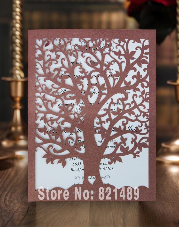 94 98 Elegante Diseño De árbol De Amor Tarjeta De Invitación De Boda Tarjeta Formal De Invitación De Banquete Juego De 50 In Tarjetas E