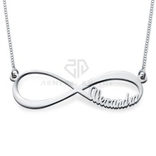 Infinity Name Necklace custom made stainless steel gift jewelry