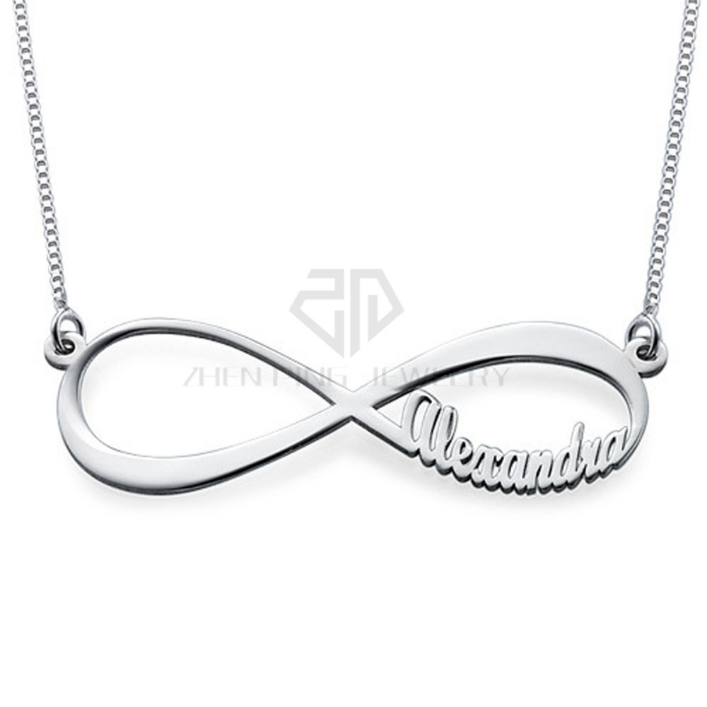 Infinity Name Necklace font b custom b font font b made b font stainless steel gift