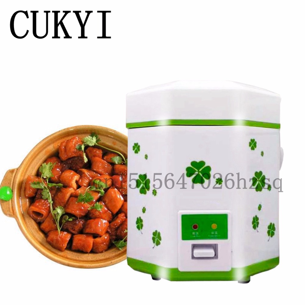 CUKYI Hot 1.2L 110V Mini electric cooker student dormitory  cooking  for 1-2 people cukyi household electric multi function cooker 220v stainless steel colorful stew cook steam machine 5 in 1